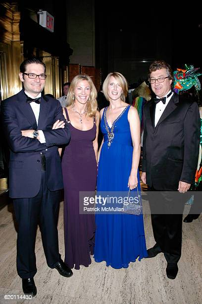 Joseph Oughourlian Elizabeth Piussan Jennifer Banks Oughourlian and Benoit Piussan attend LA VIE EN VERT GALA 2008 Lycee Francais de New York at...