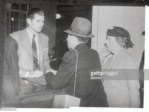 Joseph P Kennedy Jr son of US Ambassador to Great Britain Joseph P Kennedy helps out at the American Embassy in London when Americans seeking passage...