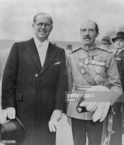 Joseph P Kennedy Sr the new US Ambassador to the United Kingdom returns to the US Embassy after presenting his credentials to the King at Buckingham...