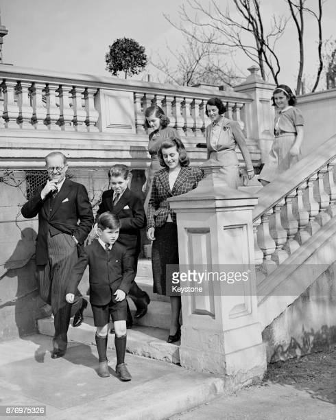 Joseph P Kennedy US Ambassador to London with his wife and children London 16th March 1938 From front Edward Joseph P Kennedy Robert Kathleen...