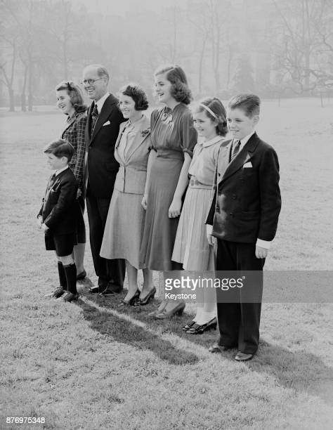 Joseph P Kennedy US Ambassador to London with his wife and children London 16th March 1938 From left Kathleen Joseph P Kennedy Rose Kennedy Patricia...