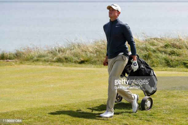 Joseph Pagdin of England in action during Day Two of the RA Amateur Championship at Portmarnock Golf Club on June 18 2019 in Portmarnock Ireland