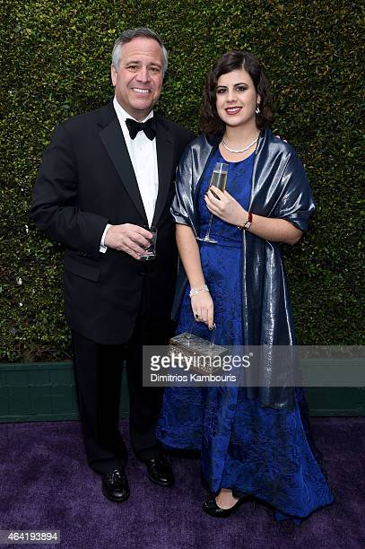Joseph Paolino and Jaclyn Paolino attend the 23rd Annual Elton John AIDS Foundation Academy Awards Viewing Party on February 22 2015 in Los Angeles...