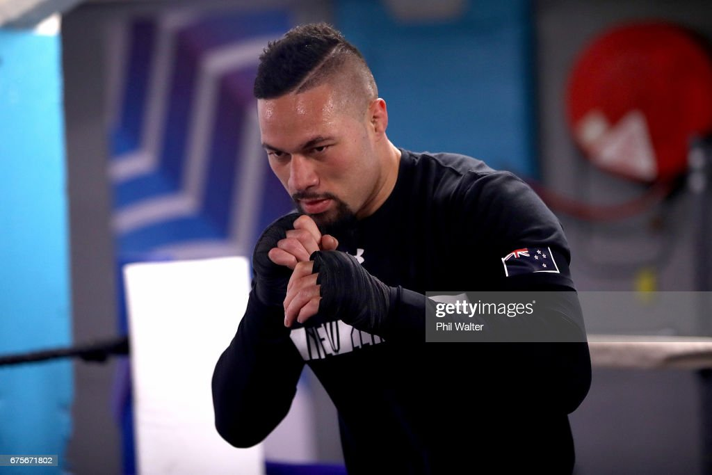 Joseph Parker before a training session on May 2, 2017 in Auckland, New Zealand. Parker will fight Razvan Cojanu in Auckland on Saturday.