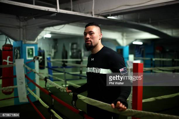 Joseph Parker before a training session on May 2 2017 in Auckland New Zealand Parker will fight Razvan Cojanu in Auckland on Saturday