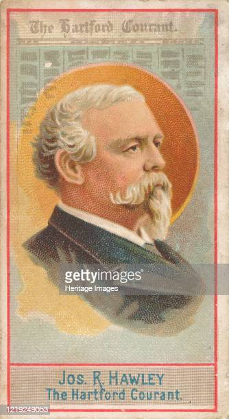 Joseph R Hawley The Hartford Courant from the American Editors series for Allen Ginter Cigarettes Brands 1887 Artist Allen Ginter