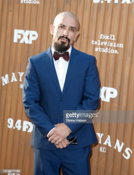 Joseph Raymond Lucero attends the premiere of FX's 'Mayans MC' at TCL Chinese Theatre on August 28 2018 in Hollywood California