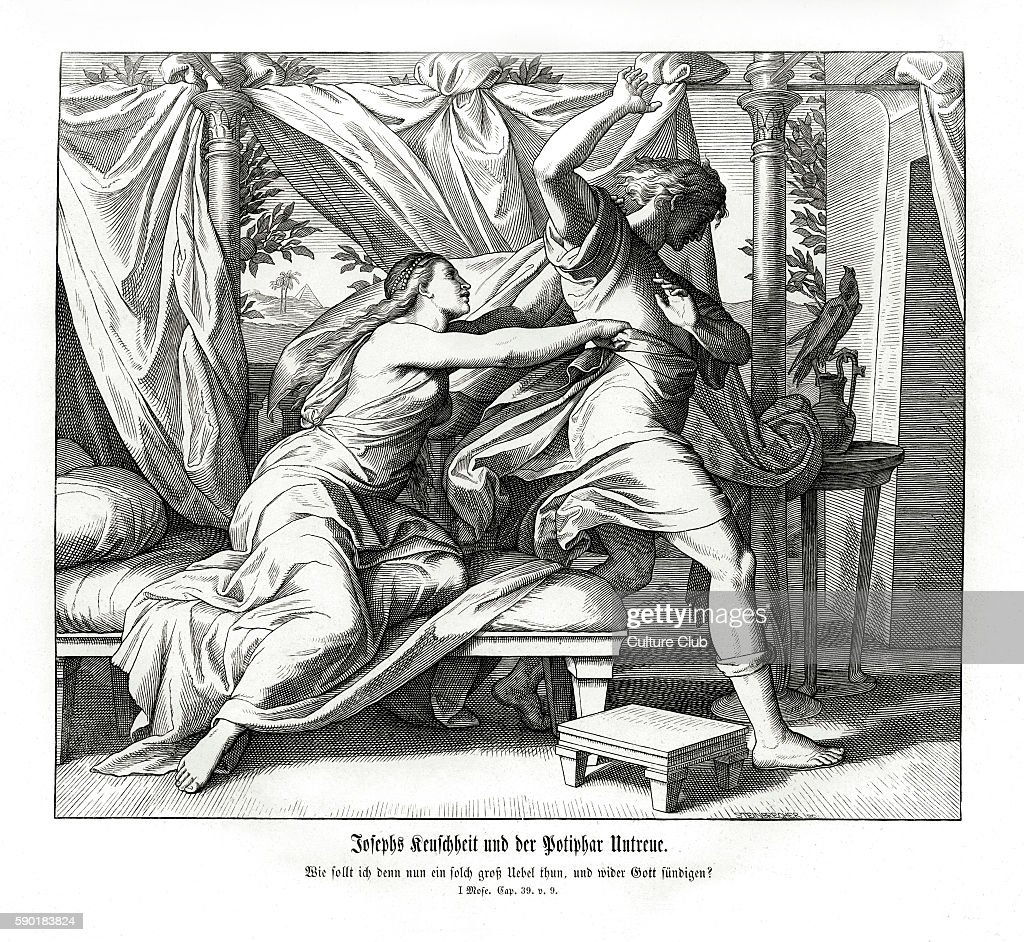 Joseph refuses to lie with Potiphar : News Photo
