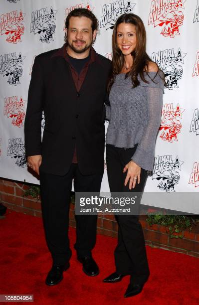 """Joseph Reitman and Shannon Elizabeth during """"Luck of The Paw"""" Casino Night and Silent Auction to Benefit Animal Avengers at The Victorian in Santa..."""
