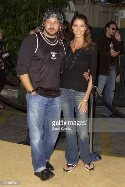 "Joseph Reitman & Shannon Elizabeth during ""Austin Powers In Goldmember"" Premiere at Universal Amphitheatre in Universal City, California, United..."