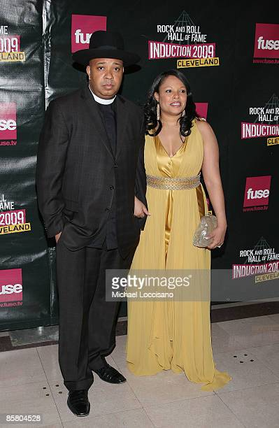 Joseph Rev Run Simmons and Justine Simmons attend the 24th Annual Rock and Roll Hall of Fame Induction Ceremony at Public Hall on April 4 2009 in...
