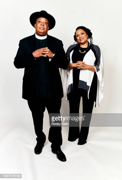 Joseph 'Rev Run' Simmons and Justine Simmons of Netflix's 'All About the Washingtons' pose for a portrait during the 2018 Summer Television Critics...