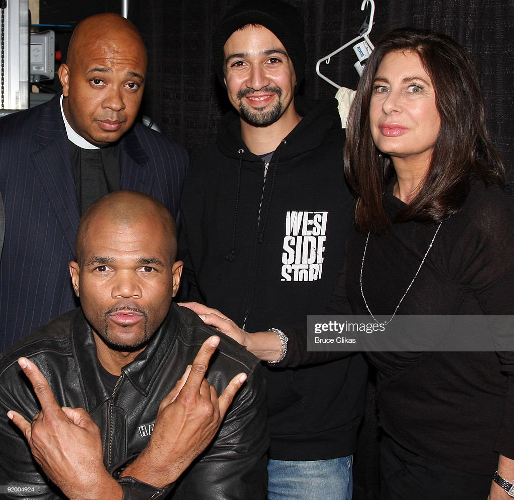 """Run DMC And Paula Wagner Visits """"In The Heights"""" On Broadway : News Photo"""