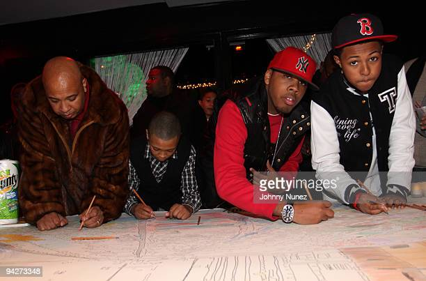 Joseph Rev Run Simmons Russy Simmons JoJo Simmons and Diggy Simmons attend the 10th annual Rush Philanthropic Arts Foundation youth holiday party at...