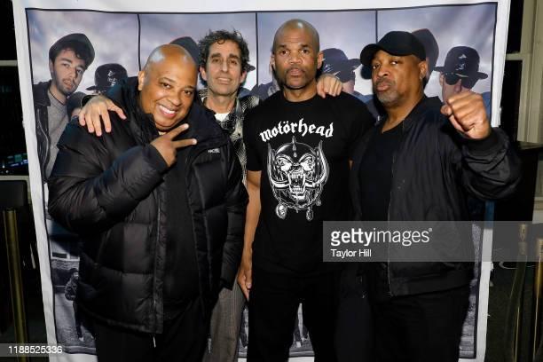 "Joseph ""Reverend Run"" Simmons, Glen E. Friedman, Darryl ""DMC"" McDaniels, and Chuck D attend a signing for Glen E. Friedman's ""Together Forever: The..."