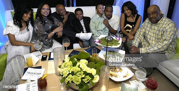 Joseph Reverend Run Simmons poses with his family daughter Vanessa Simmons wife Justine sons Diggy Russy JoJo daughter Angela and brother Danny...