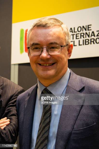 """Joseph Roth seen presenting his new book, """"Soap bubbles Literary wanderings between the two wars"""" during the event. The International Book Fair is..."""
