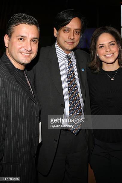 Joseph Salim Shashi Tharoor and Soledad O'Brien during The Virtue Foundation hosted a Mukhtar Mai interview by CNN's Soledad O'Brien at United...