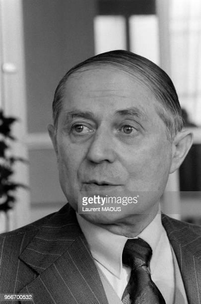Joseph Sanguedolce, maire communiste de Saint-Etienne en janvier 1979, France.