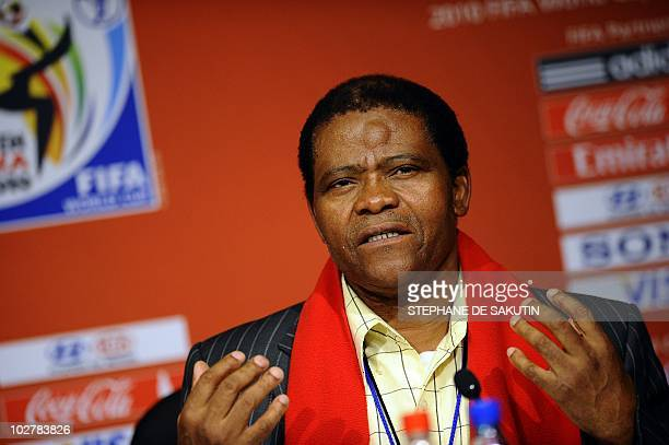 Joseph Shabalala music director of Grammy Award winners Ladysmith Black Mambazo and founder of the prize speaks during a press conference on July 10...