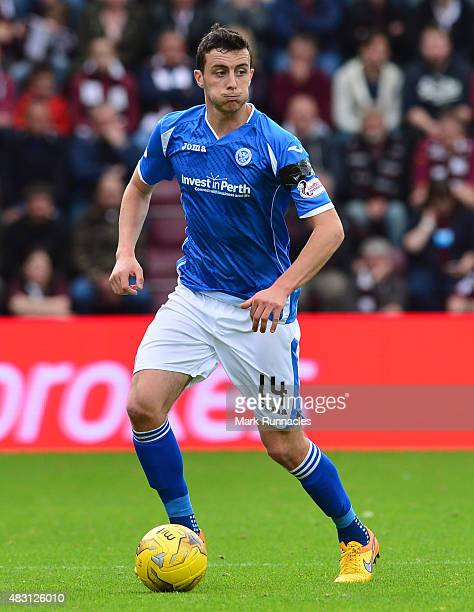 Joseph Shaughnessy of St Johnstone in action during the Ladbrokes Scottish Premiership match between Heart of Midlothian FC and St Johnstone FC at...