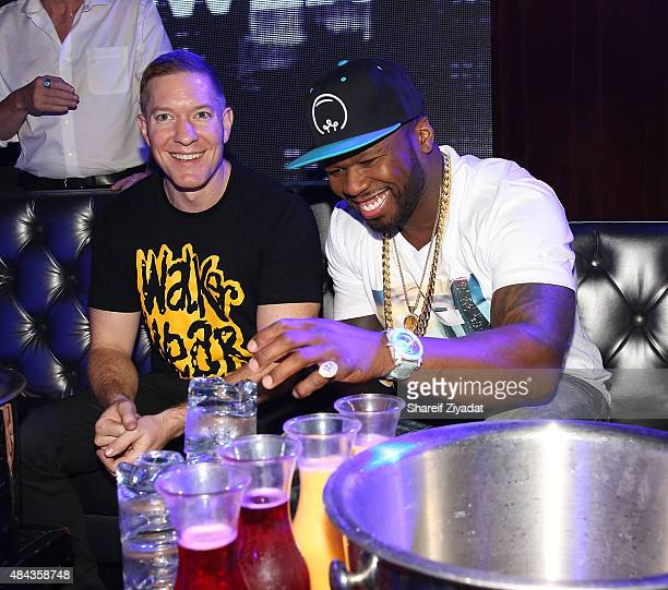 Joseph Sikora and 50 Cent at The Highlands NYC on August 16 2015 in New York City