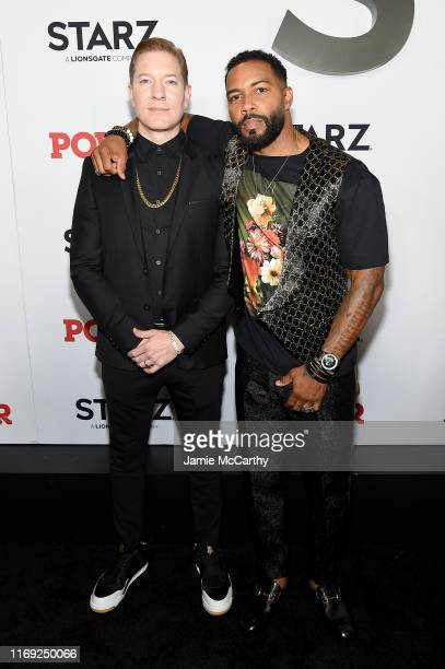 Joseph Sikora and Omari Hardwick at STARZ Madison Square Garden Power Season 6 Red Carpet Premiere Concert and Party on August 20 2019 in New York...