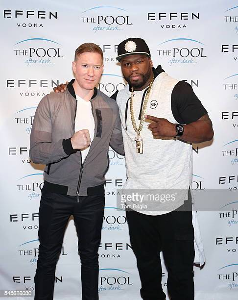 Joseph Sikora joins Rapper Curtis '50 Cent' Jackson for his performance on his birthday at The Pool After Dark at Harrah's Resort on Wednesday July...
