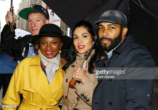 Joseph Sikora Naturi Naughton Lela Loren and Omari Hardwick arrive to hand out tickets to the New York premiere of 'Power' TV series on June 2 2015...