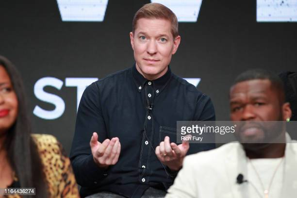 Joseph Sikora of 'Power' speaks onstage during the Starz segment of the Summer 2019 Television Critics Association Press Tour at The Beverly Hilton...