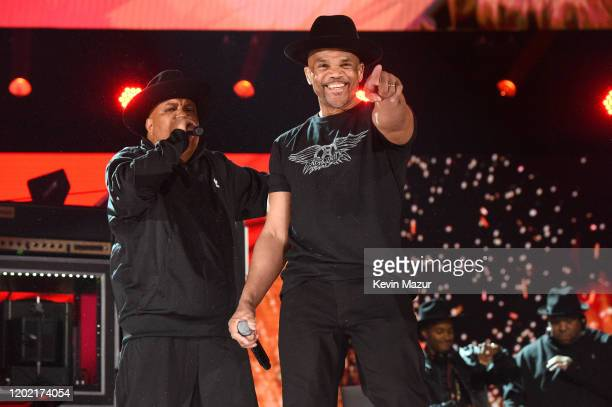 Joseph Simmons and Darryl McDaniels of music group Run–D.M.C. Perform onstage during the 62nd Annual GRAMMY Awards at STAPLES Center on January 26,...