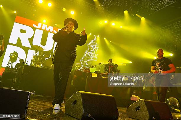 Joseph Simmons and Darryl McDaniels of Run DMC perform onstage at the Bud Light Madden Bowl at The Bud Light Hotel on January 30 2014 in New York City