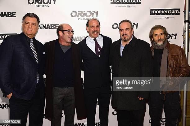 Joseph Siravo Johnny Ventimiglia Nick Sandow David Zayas and Michael Imperioli attend The Wannabe New York premiere at Crosby Street Hotel on...