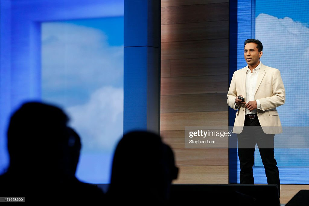 Joseph Sirosh, corporate vice president at Microsoft, speaks on stage during the 2015 Microsoft Build Conference on April 30, 2015 at Moscone Center in San Francisco, California. Thousands are expected to attend the annual developer conference which runs through May 1.