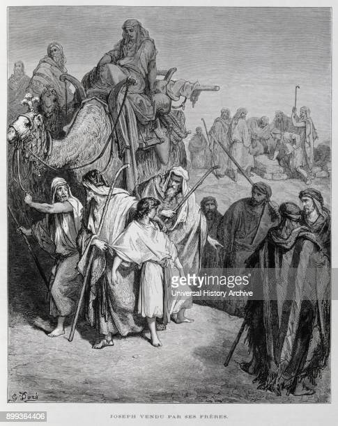 Joseph sold by his brothers Illustration from the Dore Bible 1866 In 1866 the French artist and illustrator Gustave Dore published a series of 241...