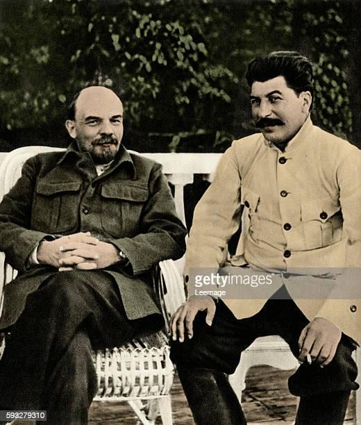 Joseph Stalin and Vladimir Ilyich Lenin 1922