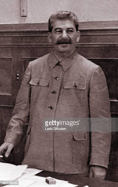 Joseph Stalin born Josef Vissarionovich Dzugashvili a Bolshevik revolutionary and leader of the Soviet Union Moscow 1944 He remained in power through...