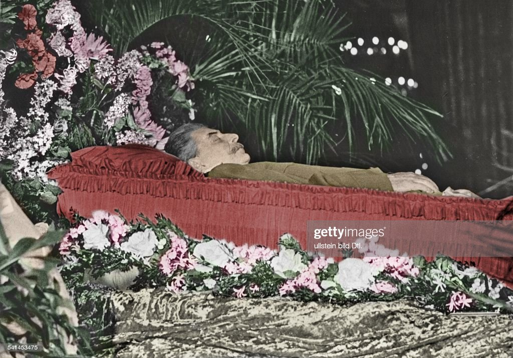 joseph stalin russian politicianlaid out body of the