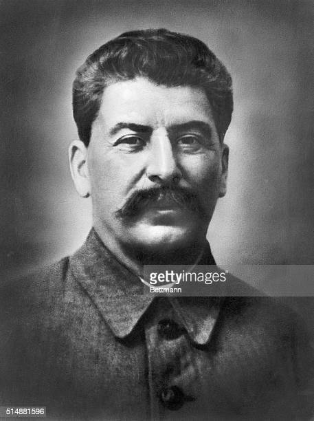 Joseph Stalin Russian revolutionary and head of the USSR from 19241953 Head and shoulders portrait undated