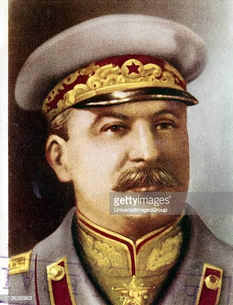 Joseph Stalin Soviet leader c1945 Head and shoulders portrait of Stalin in military uniform Born Iosif Vissarionovich Dzhugashvili Stalin became...