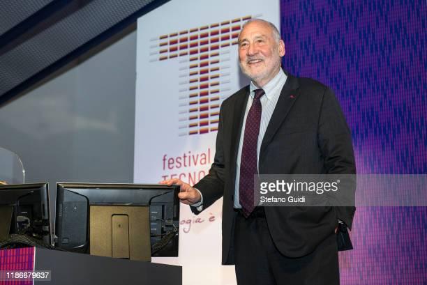 Joseph Stiglitz during of Laurea Honoris Causa Joseph Stiglitz on the Festival della Tecnologia on November 07, 2019 in Turin, Italy.
