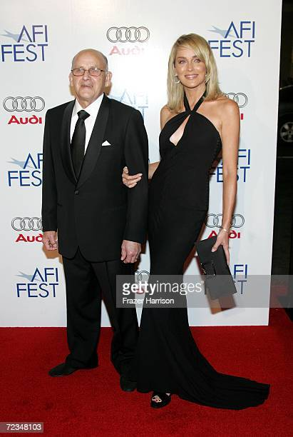 Joseph Stone and daughter actress Sharon Stone arrive at the AFI FEST presented by Audi opening night gala of Bobby at the Grauman's Chinese Theatre...