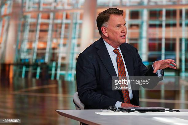 Joseph Sullivan president and chief executive officer of Legg Mason Inc speaks during a Bloomberg Television interview in New York US on Wednesday...