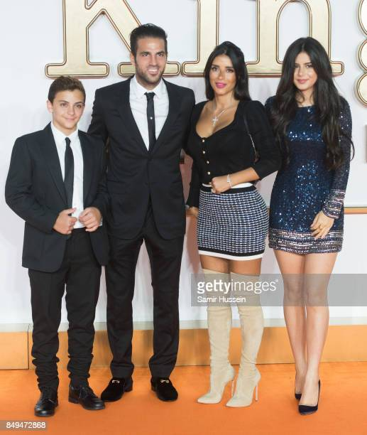 Joseph Taktouk, Cesc Fabregas, Daniella Semaan and Maria Taktouk attend the 'Kingsman: The Golden Circle' World Premiere held at Odeon Leicester...