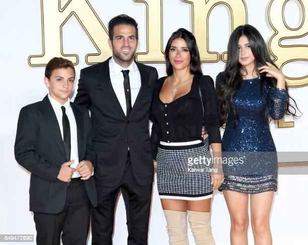 Joseph Taktouk Cesc Fabregas Daniella Semaan and Maria Taktouk attend the 'Kingsman The Golden Circle' World Premiere at Odeon Leicester Square on...
