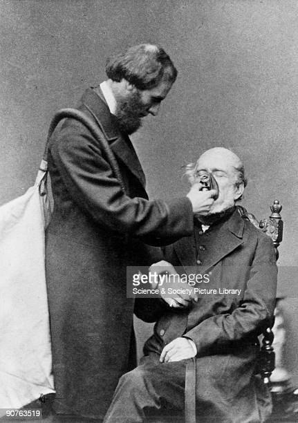 Joseph Thomas Clover demonstrating how chloroform was administered with his apparatus In 1847 by James Young Simpson of Edinburgh used chloroform gas...