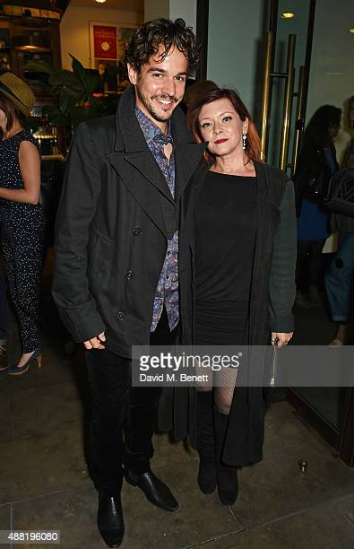 Joseph Timms and Finty Williams attend the Photograph 51 press night after party at the The National Cafe on September 14 2015 in London England