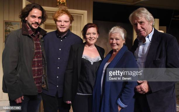 Joseph Timms Sam Williams Finty Williams Judi Dench and David Mills attend the press night after party for Pack Of Lies at The Menier Chocolate...