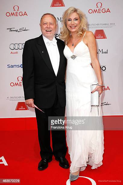 Joseph Vilsmaier and Birgit Muth attend the German Film Ball 2014 on January 18 2014 in Munich Germany