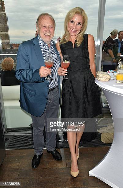 Joseph Vilsmaier and Birgit Muth attend the summer party at Hotel Bayerischer Hof on July 28, 2015 in Munich, Germany.